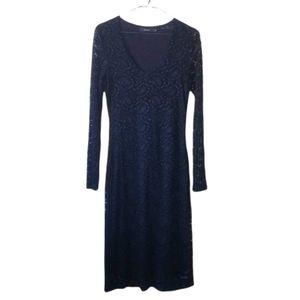 Soyaconcept Long Sleeve Balck Lace Dress Size S